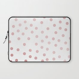 Simply Dots in Rose Gold Sunset Laptop Sleeve