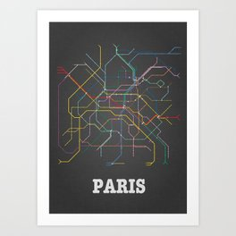 Paris Metro Subway Poster Art Print