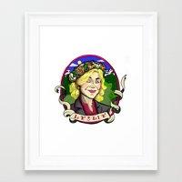 leslie knope Framed Art Prints featuring Leslie Knope by Rachel M. Loose