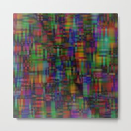 Abstract pixel background 123 Metal Print