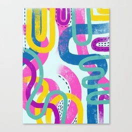 Fun bright abstract art Canvas Print