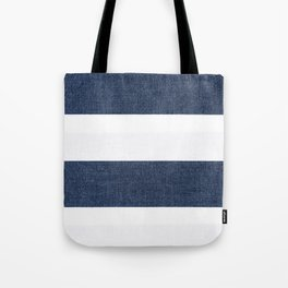 Nautical Blue & White Stripes Tote Bag