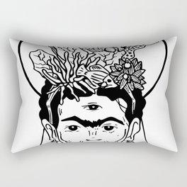 Frida en el caribe Rectangular Pillow