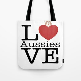 Love Cute Aussies Tote Bag