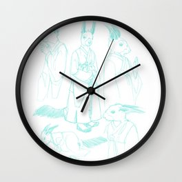 Sharp Tooth character design, pencils Wall Clock