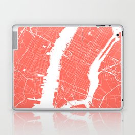 Living Coral New York City NYC Map II Laptop & iPad Skin