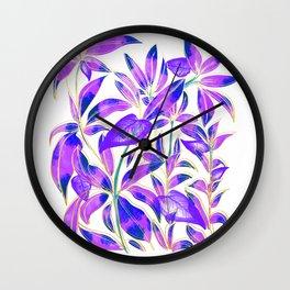 Ultraviolet Nature Wall Clock