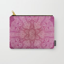 Big paisley mandala in raspberry Carry-All Pouch