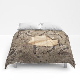 Letters and Leaf Comforters