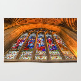 Stained Glass Abbey Window Rug