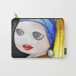 Toon With A Pearl Earing Carry-All Pouch