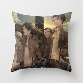 Attack on titan Shingeki no Kyojin japanese anime Throw Pillow