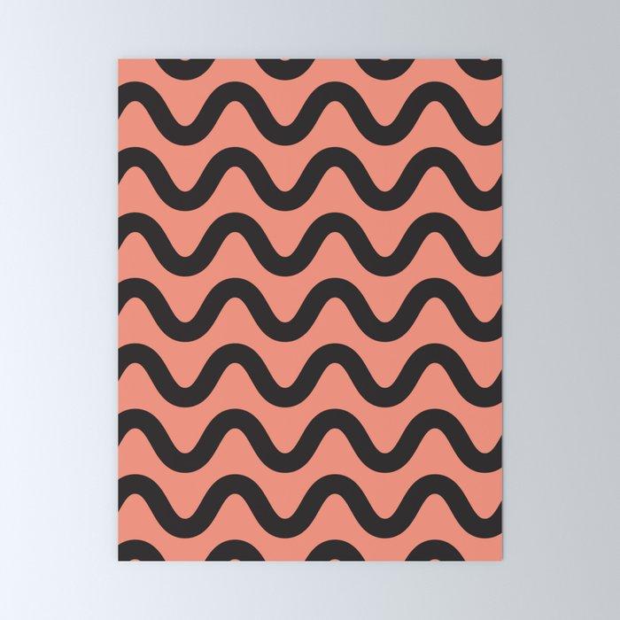 Coral Ripple Mini Art Print