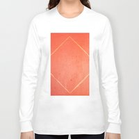 wooden Long Sleeve T-shirts featuring Wooden Rhombus by Margheritta
