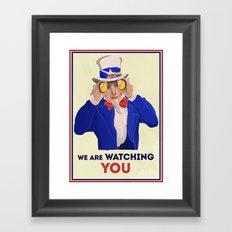 NSA Prism Framed Art Print