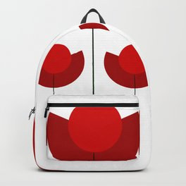 Simple red Tulips Backpack