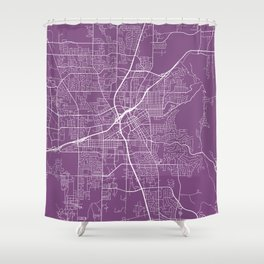 Huntsville Map, USA - Purple Shower Curtain