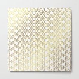 Golden cube Pattern Metal Print