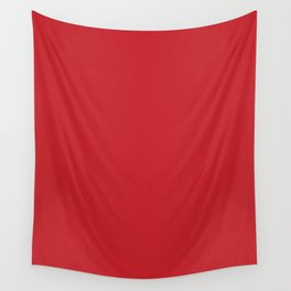 Fire Engine Red Pixel Dust Wall Tapestry
