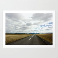 Lonely Road, Northeast Iceland I Art Print