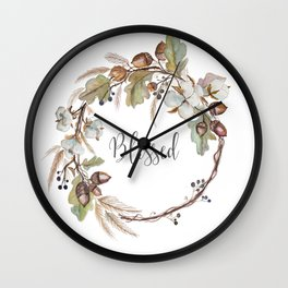 Blessed pillow Wall Clock
