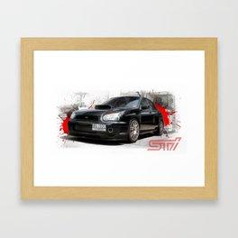 Cars: Subaru WRX STI Framed Art Print