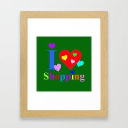 I Love Shopping Framed Art Print