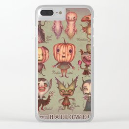Happy Halloween! Clear iPhone Case