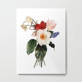 Spring Flowers Bouquet Metal Print