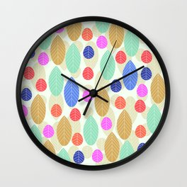 Leaf joy Wall Clock