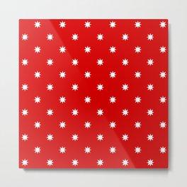 stars 57- red Metal Print