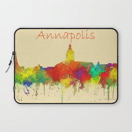 Anapolis city skyline water color Laptop Sleeve