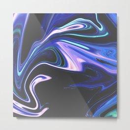 Tell Me - Marbling Pattern Metal Print