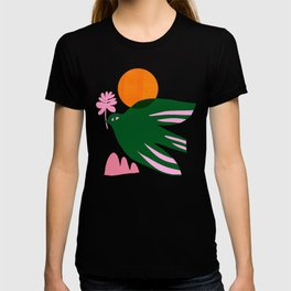 Abstraction_BIRD_SUN_Beautiful_Day_Minimalism_001 T-shirt