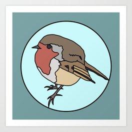 Robin - Robin Redbreast Art Print