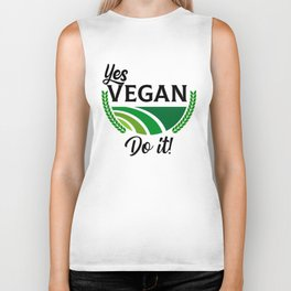 Yes Vegan Do It Biker Tank