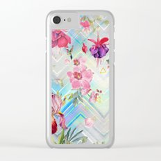 Geometric with tropical nature Clear iPhone Case