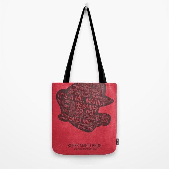 Super Mario Typography Tote Bag