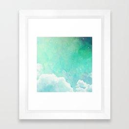 Cloud sky pattern Framed Art Print