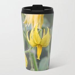Yellow flowers of tomatoes. Travel Mug