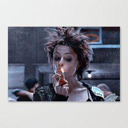 Marla Singer Smokes A Cigarette During Group Therapy - Fight Canvas Print