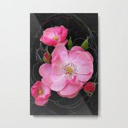 tiny rosebud opens Metal Print