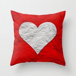 Heart Texture Throw Pillow