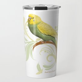 Pastel Green Parakeet Travel Mug