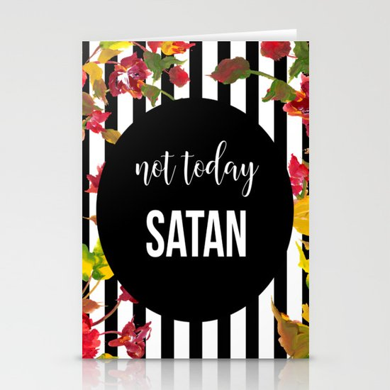Not Today Satan by littleladybug