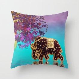elephant fantasy -1- Throw Pillow