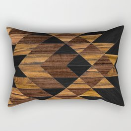 Urban Tribal Pattern 11 - Aztec - Wood Rectangular Pillow