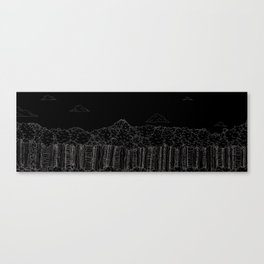BigFoot Forest (Black and White) Canvas Print