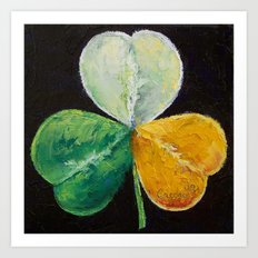 Irish Shamrock Art Print
