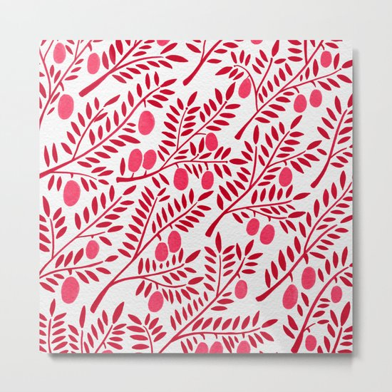 Olive Branches – Fiery Palette Metal Print